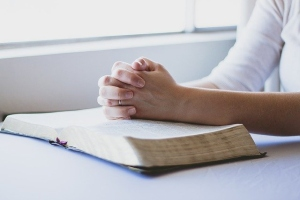 Prayer with Bible
