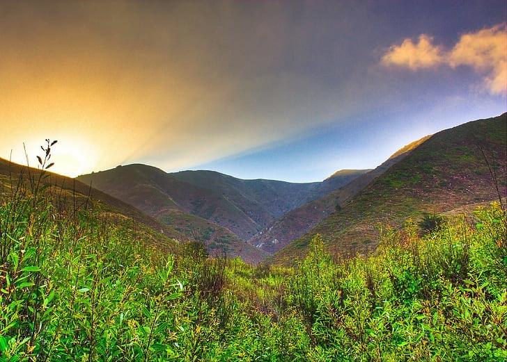 View through mountain