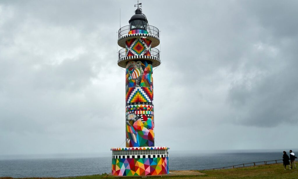 Colourful lighthouse