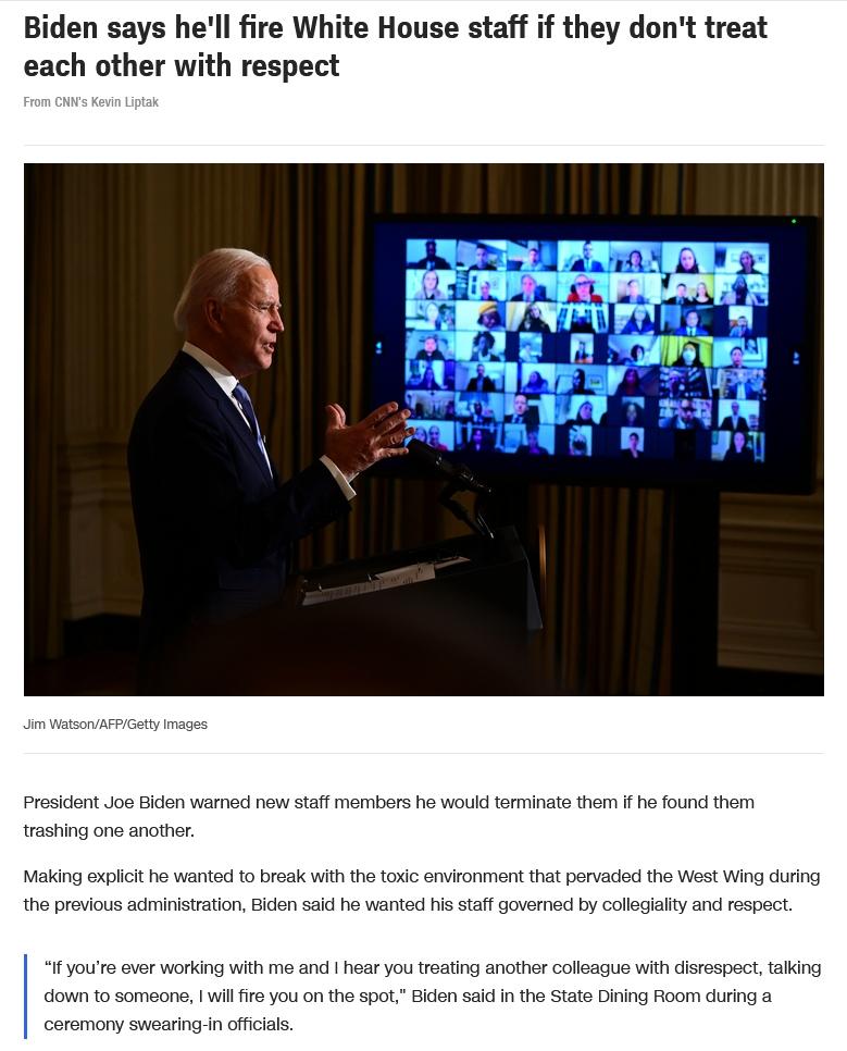 Joe Biden and respect