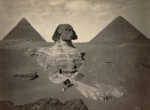 The Sphinx - partially excavated